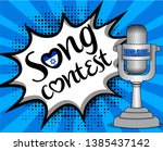 pop art song contest with... | Shutterstock .eps vector #1385437142
