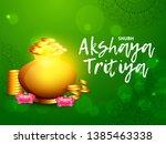 illustration of akshaya tritiya ... | Shutterstock .eps vector #1385463338