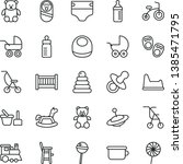 thin line vector icon set  ...   Shutterstock .eps vector #1385471795