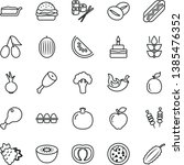 thin line vector icon set  ... | Shutterstock .eps vector #1385476352