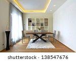 dining room interior | Shutterstock . vector #138547676