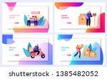 post office service website...   Shutterstock .eps vector #1385482052