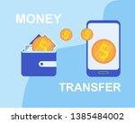 money transfer wallet to... | Shutterstock .eps vector #1385484002