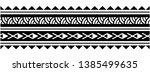 polynesian wrist tribal tattoo... | Shutterstock .eps vector #1385499635