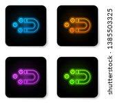 glowing neon customer... | Shutterstock .eps vector #1385503325