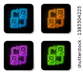 glowing neon a fixed data... | Shutterstock .eps vector #1385504225