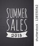 chalkboard design summer sales... | Shutterstock .eps vector #138550562