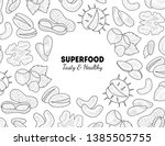 superfood banner template  nuts ...   Shutterstock .eps vector #1385505755
