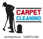 man and a carpet cleaning... | Shutterstock .eps vector #138551186