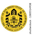 seal of usa city of san diego ... | Shutterstock .eps vector #1385514938