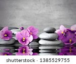 Pink Flower And Stone Zen Spa...
