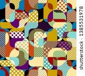 seamless geometric pattern.... | Shutterstock .eps vector #1385531978