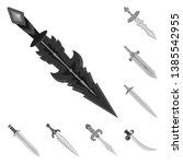 vector illustration of sharp... | Shutterstock .eps vector #1385542955