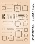 vintage set decor elements.... | Shutterstock .eps vector #1385544122