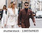 milan  italy   february 23 ... | Shutterstock . vector #1385569835