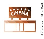 cinema entrance icon. flat...
