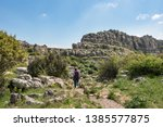 torcal natural park in... | Shutterstock . vector #1385577875