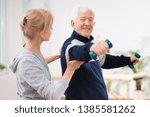 senior man after stroke at...   Shutterstock . vector #1385581262