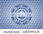 best selection blue emblem or... | Shutterstock .eps vector #1385594135