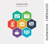 simple set of web shop  pig... | Shutterstock .eps vector #1385616152