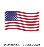 american waving flag vector... | Shutterstock .eps vector #1385620505