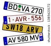 european countries car license... | Shutterstock .eps vector #1385623172