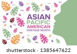 asian pacific american heritage ... | Shutterstock .eps vector #1385647622
