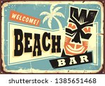 beach bar advertising with... | Shutterstock .eps vector #1385651468