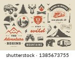 summer camping and outdoor... | Shutterstock .eps vector #1385673755
