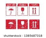 logistics rubber inky box sign...   Shutterstock .eps vector #1385687318