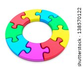 colorful jigsaw puzzle circle... | Shutterstock . vector #138570122