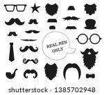vector set of mustache  beard ... | Shutterstock .eps vector #1385702948