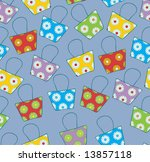 seamless pattern with bags | Shutterstock .eps vector #13857118