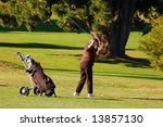Lady Golfer Backswing