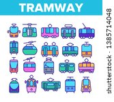 tramway  urban transport thin... | Shutterstock .eps vector #1385714048