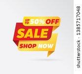 vector sale banner template... | Shutterstock .eps vector #1385717048