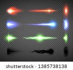 futuristic energy weapon firing ... | Shutterstock .eps vector #1385738138