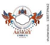 graphic vintage emblem composed ... | Shutterstock .eps vector #1385739662