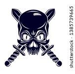 aggressive skull pirate emblem...   Shutterstock .eps vector #1385739665