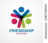 teamwork and friendship concept ... | Shutterstock .eps vector #1385740445
