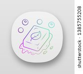eco soap app icon. handmade ...