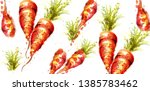carrots pattern vector... | Shutterstock .eps vector #1385783462
