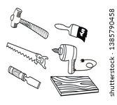 set of carpentry equipment hand ...   Shutterstock .eps vector #1385790458