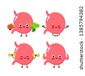 strong cute healthy happy human ...   Shutterstock .eps vector #1385794382