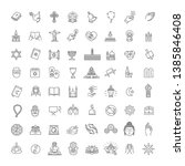 vector religion icons set thin... | Shutterstock .eps vector #1385846408