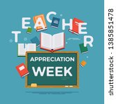 teacher appreciation week... | Shutterstock .eps vector #1385851478
