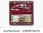 Vintage Travel Sewing Kit With...