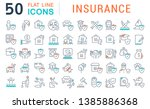 set of vector line icons of... | Shutterstock .eps vector #1385886368
