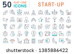 set of vector line icons of... | Shutterstock .eps vector #1385886422