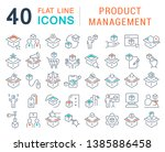 set of vector line icons of... | Shutterstock .eps vector #1385886458